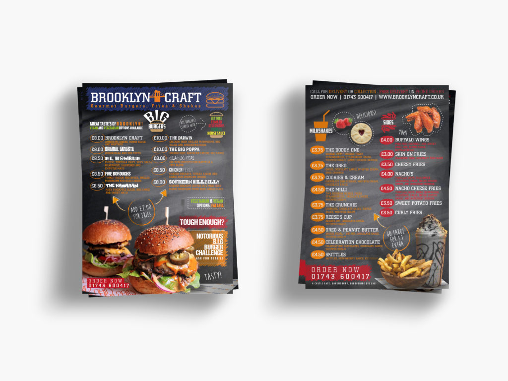 Brooklyn Craft Menus